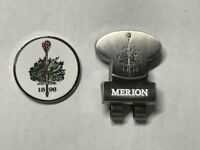 Rare Iconic Merion Golf Club Club Double-Sided PRG Golf Marker With Hat Clip