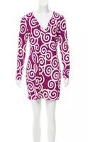DVF Diane Von Furstenberg Womens Sz 8 Silk Reina Dress Long Sleeve Printed $348