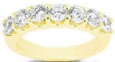1.41 ct 7 Round Diamond Ring Wedding Band 14k Yellow Gold F color Vs/Si1 clarity