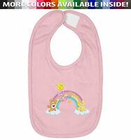 Infant Baby Bib Cotton Hook & Loop Closure Gift Cute Care Bears Rainbow Friends