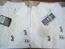 Boys Cricket Shirt White Short Sleeve 10 - 12 StayDry Kookaburra Post