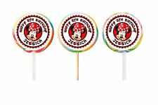 60 Minnie Mouse Birthday Stickers Lollipop Labels Party Favors 1.5 in