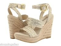 New Michael Kors Pumps Heels Shoes Juniper Platform Sandals Espadrille Leather