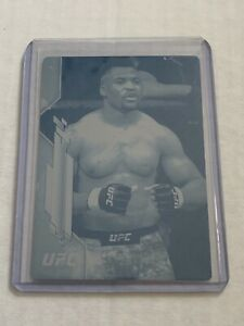 2020 Topps UFC Francis Ngannou 1/1 Cyan Printing Plate