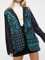 Free People Better Together Blazer Cardigan Size XS Black Combo Anthropologie