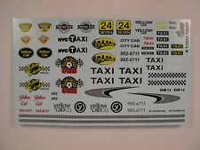 GOFER RACING TAXI CAB WATER SLIDE DECALS FOR 1/24 and 1/25 SCALE MODEL CARS