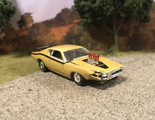 1971 Dodge Charger Crashed Custom 1/64 Diecast Wrecked Junkyard Car Wreck M2