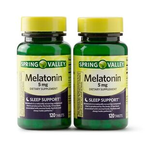 New Spring Valley Melatonin Tablets 5 mg 120 Ct 2 Pack