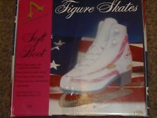 Size 2 American Ice Girls White  Ice Figure Skates W/ Pink  (RM-6)