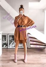 Caramel Zara Long Poplin Shirt XS Extra Small 6 New