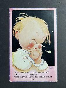 Vintage Postcard Artist Signed: Mabel Lucie Attwell #3696 Help Me To ForgiveA755
