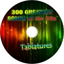 80 S années 80 guitare tab CD Tablature Song Book GREATEST HITS best of Music Audio