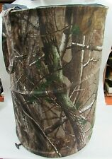 Team Realtree Camouflage Nylon Collapsible Cylinder Zipper Bag Duffel Free S/H