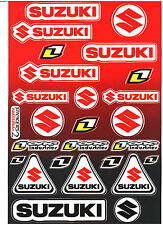 25 SUZUKI Racing Vinyl Stickers Graphic KIT Moto, Moto GP Motocross Supercross