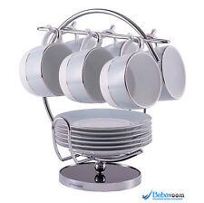 6 Cup Tree Stand Holder Hanging Mug Kitchen Storage Rack Chrome Babavoom H5