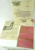 Antique Advertising Letterhead 1908 Ringen Quick Meal Stove Letterhead Lot