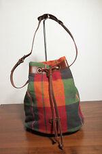 Karierte Damentaschen aus Leder mit Innentasche (n)