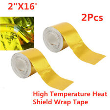 2x Gold Heat Shield Wrap Tape Car Intake Intercooler Pipe Reflective Insulation