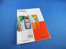 Original siemens c60 a60 info catálogo folleto instrucciones manual de instrucciones