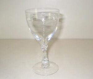 Fostoria Leaf?Pattern Crystal? Glass:WINE?CHAMPAGNE