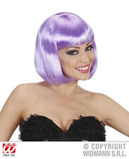 Ladies Deluxe Lilac Purple Bob Wig Sexy Secretary Lady Gaga Fancy Dress