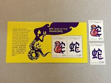AUSTRALIA Christmas Island 2013 Year of the Snake stamps & S/S MNH VF