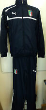 ITALY FOOTBALL NAVY TRACKSUIT BY PUMA ADULTS SIZE X-SMALL BRAND NEW WITH TAGS