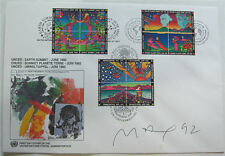 Peter Max United Nations 1992 Earth Summit First Day Cover