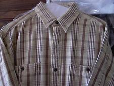 Vintage EUC Polo Ralph Lauren Brown Plaid Heavy Cotton Sport Shirt Sz M