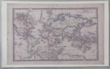 PRL) TELA QUADRO PICTURE WORLD MAP ATLANTE STORICO SPRUNER STATI TERRA VIAGGI