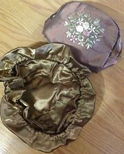 Bronze Makeup Jewelry Travel Pouch Small Bag