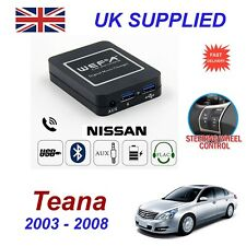 For Nissan Teana Music Streaming Bluetooth Telephone Charger SD AUX CD Module