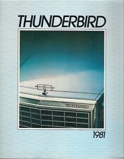 Ford thunderbird 1981 marché canadien sales brochure ville landau heritage