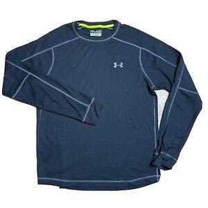 Under Armour Catalyst Allseason Thermal Crewneck Sweatshirt Mens Medium M Loose