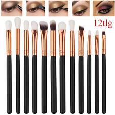 12tlg Make Up Pinsel Set Schminkpinsel Eyeliner Lidschatten Lip Kosmetik Kit