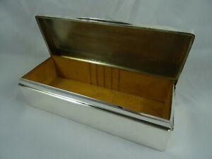 LARGE, sterling silver CIGARETTE BOX, 1912
