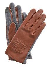 Lauren Ralph LaurenLeather Embossed Logo Glove