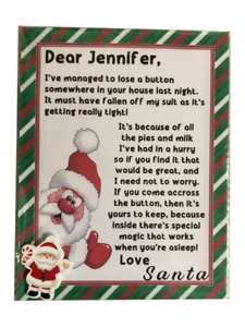 Personalised Santa's Lost Button Christmas Eve Box Magical Kids Stocking Filler