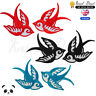 Swallow Bird Pair Embroidered Iron On /Sew On Patch Badge For Clothes Bags etc