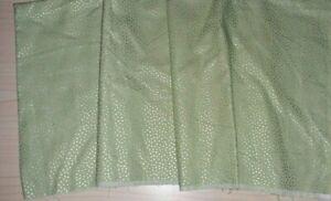Bolt End 112 cm x 21 cm 100% Cotton Fabric Green/Silver Tiny Spots Design
