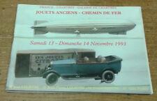Catalogue de vente, Chartres, 13-14 novembre 93 (Jouets anciens, chemin de fer)
