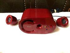 Sony SRS-D25 Active Desktop Speaker System 2.1 Channel Subwoofer Ruby Red