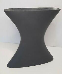 """Aluminium Geometric Black CONTOUR Vase MADE IN INDIA 9""""X8.25""""X2"""" ANGULAR SHARP"""