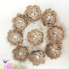 New Vintage Natural Hessian Jute Burlap Flower Rustic Wedding Party Decorations