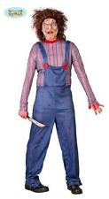 Costume Bambola Assassina Chucky Halloween Carnevale Uomo Adulto Nuovo Horror