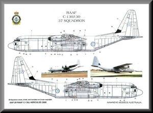 1/48 RAAF DECALS; Lockheed C-130J Hercules 37 SQN Initial Delivery Scheme 2000