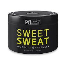 Sports Research Sweet Sweat Cream Jar, 6.5-Ounce Workout Enhancer
