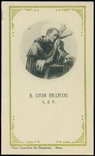 santino-holy card B.SIMONE BALACCHI DA SANT'ARCANGELO DI ROMAGNA