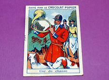 INSTRUMENTS DE MUSIQUE COR DE CHASSE CHROMO CHOCOLAT PUPIER JOLIES IMAGES 1930