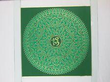 Vintage COCORICO GRAPHICS Silk Screen Mandala Poster by Royal Screen Craft NOS